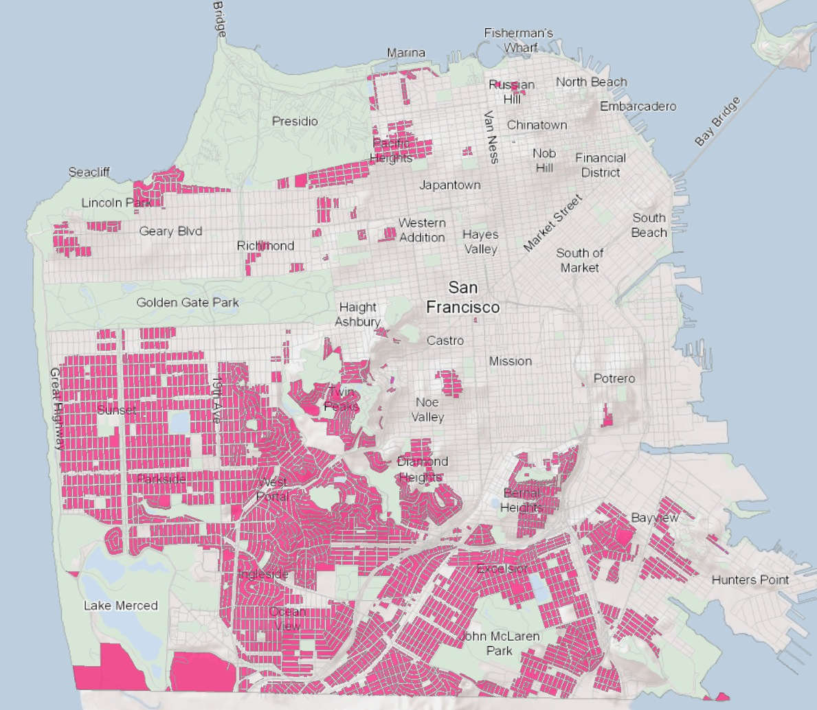 Single-family home zoning in San Francisco