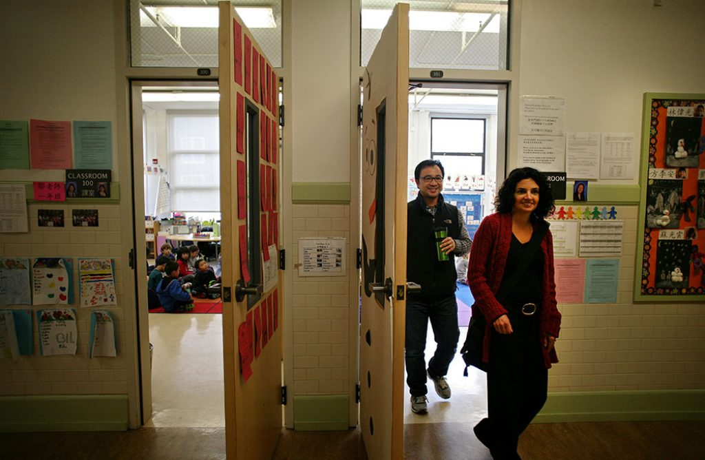 Parents are beginning their five months of tours at elementary schools. Photo by Anna Vignet