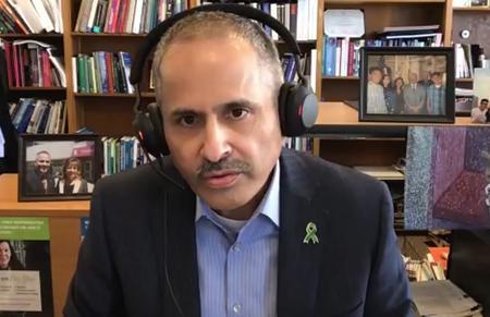 San Francisco Health Officer Dr. Tomás Aragón. Screen shot from press conference