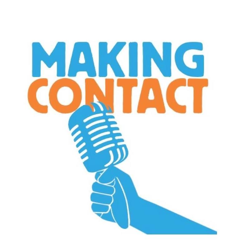 making contact logo orange