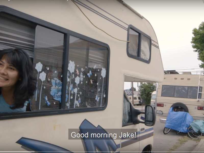 """""""Quarantine Diary"""" depicts Yesica Prado's personal experience living in an RV in Berkeley. As a CatchLight Local Fellow at the San Francisco Public Press, Prado spent the past year examining the culture of vehicle living in San Francisco and Berkeley. Her reporting and photojournalism are featured in """"Driving Home: Surviving the Housing Crisis,"""" which she produced for the San Francisco Public Press in collaboration with the Bay Area visual storytelling nonprofit CatchLight through its CatchLight Local Initiative."""