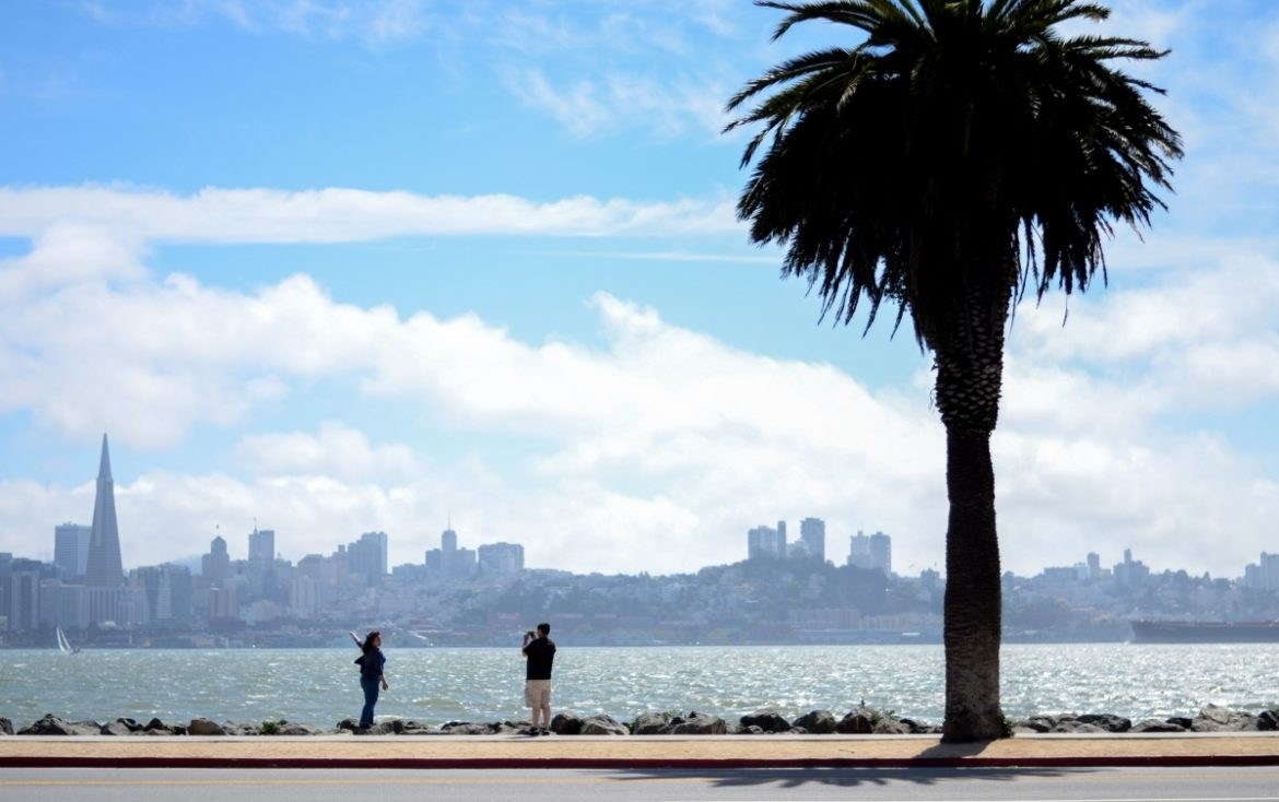 View of downtown San Francisco from Treasure Island.