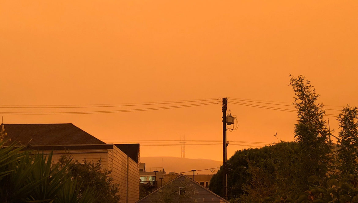 Wildfire smoke blankets the Bay Area on Wednesday, Sept. 10 2020.