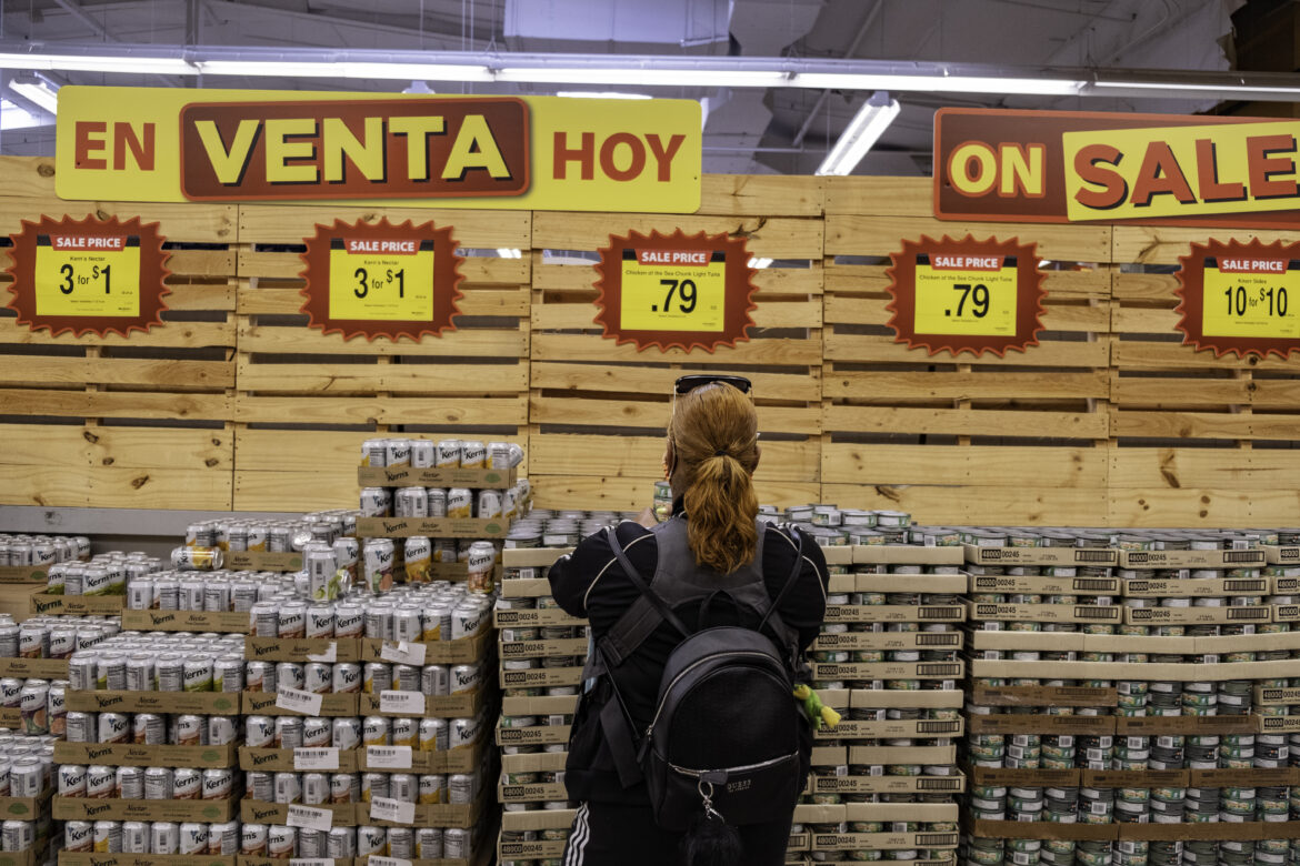At the grocery store, Tolbert loads up her cart with canned tuna. She stocks up on dry goods and nonperishables from Foods Co. on Folsom and 14th streets in San Francisco. At this store, she is able to cash in her food vouchers from the Black Infant Health program.