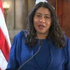 Mayor London Breed at a city coronavirus press conference. Screen capture from SFGovTV