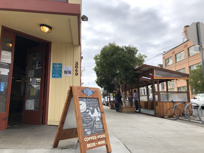 The temporary ban on outdoor dining is dealing another financial blow to workers and owners. It means the Mission District's Atlas Cafe, pictured here, is just one of many restaurants that can't use newly constructed parklets to serve customers.