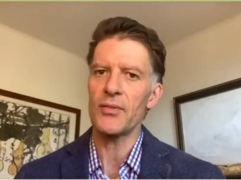 Dr. Grant Colfax admonished residents to stay at home and offered a brief update about vaccine rollout in San Francisco on Monday. Image via SFGovTV