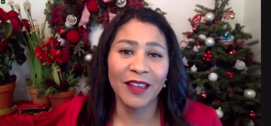 Mayor Breed criticized Governor Newsom's decision to appoint a Latino man to the seat held by the only African-American woman in the Senate at a press conference where she also urged San Franciscans to stay home for the holidays.
