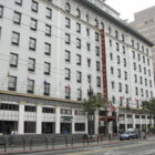 San Francisco has opened 28 shelter-in-place hotels for people experiencing homelessness including the ornate and historic Hotel Whitcomb, pictured, on Market Street. Altogether, there are more than 2,000 rooms available to shelter in place.