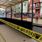 Outdoor seating areas for Castro restaurants are cordoned off due to an indefinite health order prohibiting onsite dining