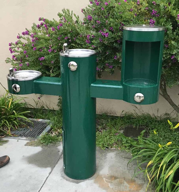 A newly installed permanent water station in San Francisco.