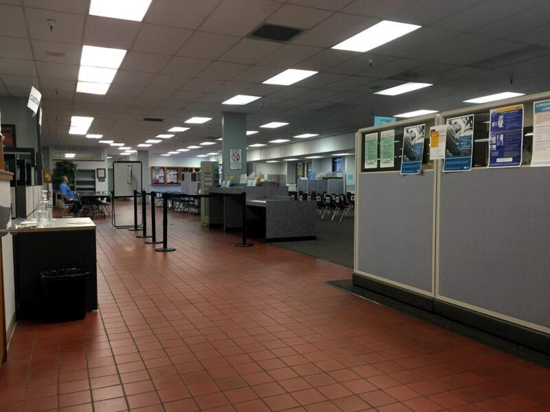 A California EDD office in 2018.