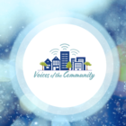 "This is the logo for ""Voices of the Community,"" which airs on KSFP 102.5 FM in San Francisco on Thursdays at 8:30 a.m. and 6:30 pm. It also streams on ksfp.fm at those times and Thursdays at 12:30 p.m. and 10:30 p.m."