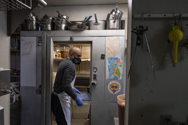 Some restaurants have altered their business model to help feed the poor in the face of coronavirus restrictions. Tilly Tsang, former owner of Washington Bakery, prepares dinner plates of pumpkin fish and rice for Sunday meal distribution in Chinatown. Every Friday, seven people cook more than 300 traditional Chinese cuisine options for breakfast, lunch and dinner.