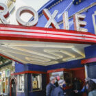 Roxie Theater members at a preview event in May 2021 before the cinema's reopening.