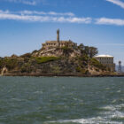 View of Alcatraz, approaching by ferry