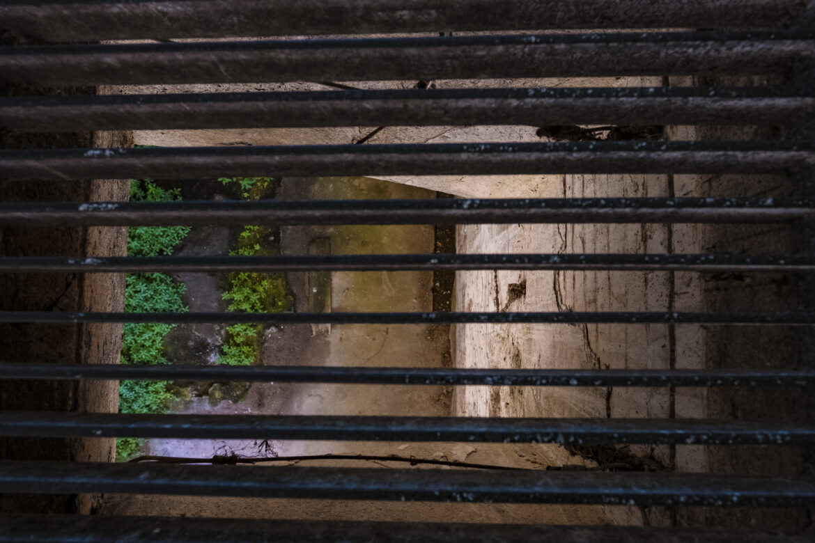 A lower-level cell under the guardhouse at Alcatraz.