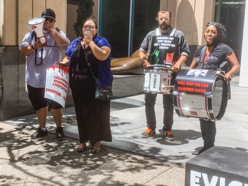Tenant activists protest evictions