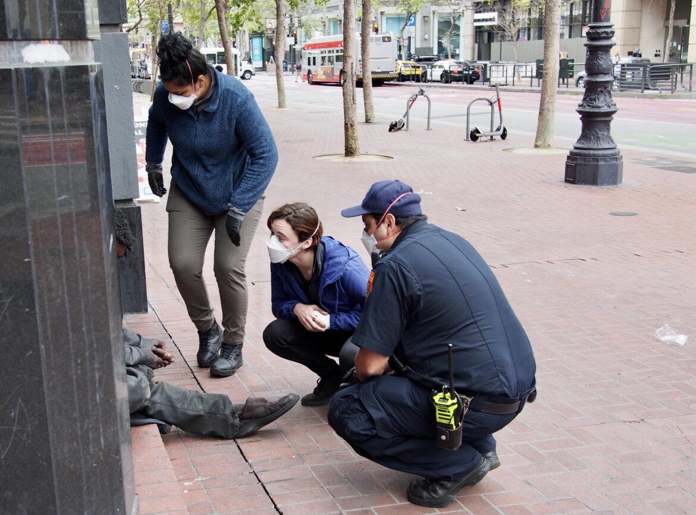 The Street Crisis Response Team responds to a call.