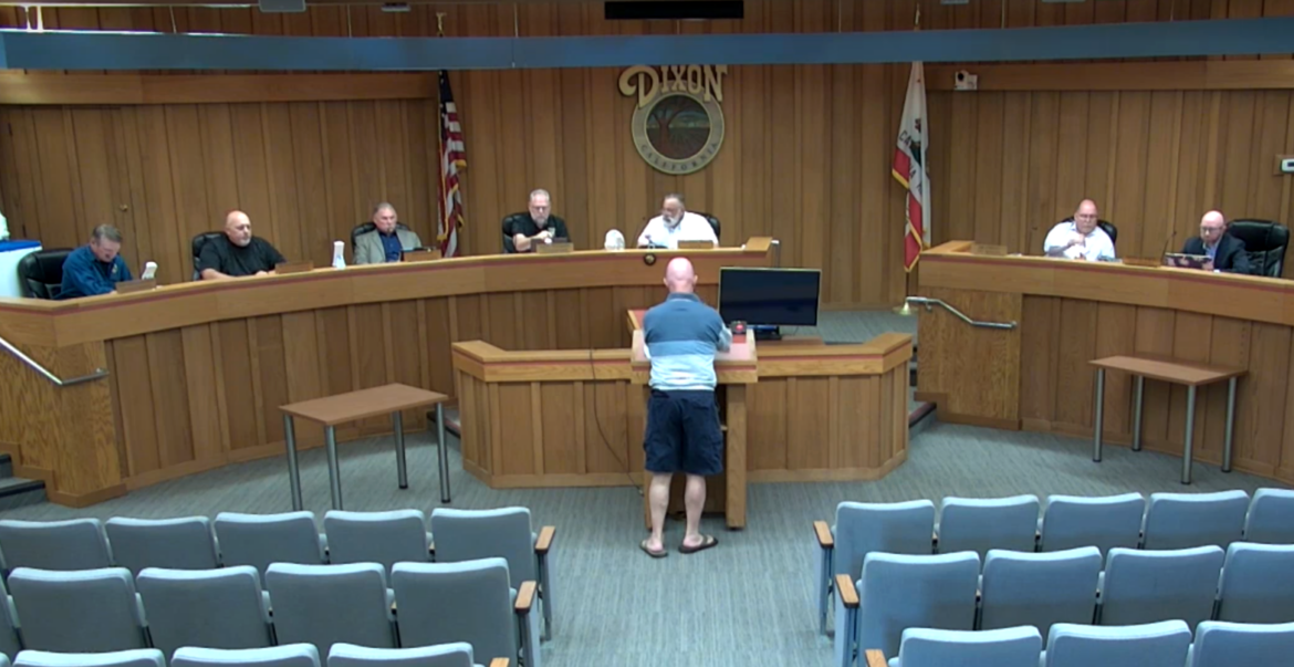 The Dixon City Council meets on Sept. 21, 2021. According to a Bay Area Equity Atlas report, people of color are underrepresented on councils and boards across the region, and some local governing bodies are all white, including Dixon's.